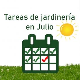 Tareas de jardinería en Julio