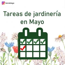 Tareas de jardinería en Mayo